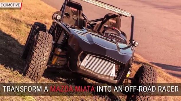 【ビデオ】マツダ「ロードスター」をオフロード車に変身させるキット「Exocet」!