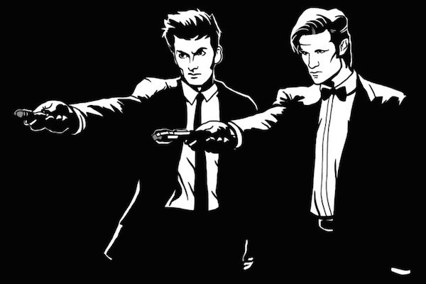 pulp fiction mashups, tenth eleventh doctor who