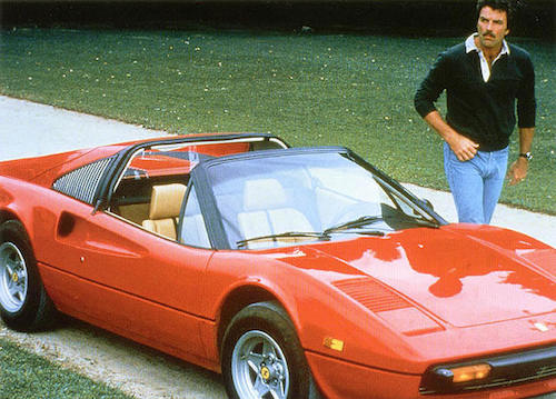 Was Tom Selleck Constantly Hiding An Erection On Magnum, P.I.?, tom selleck ferrari