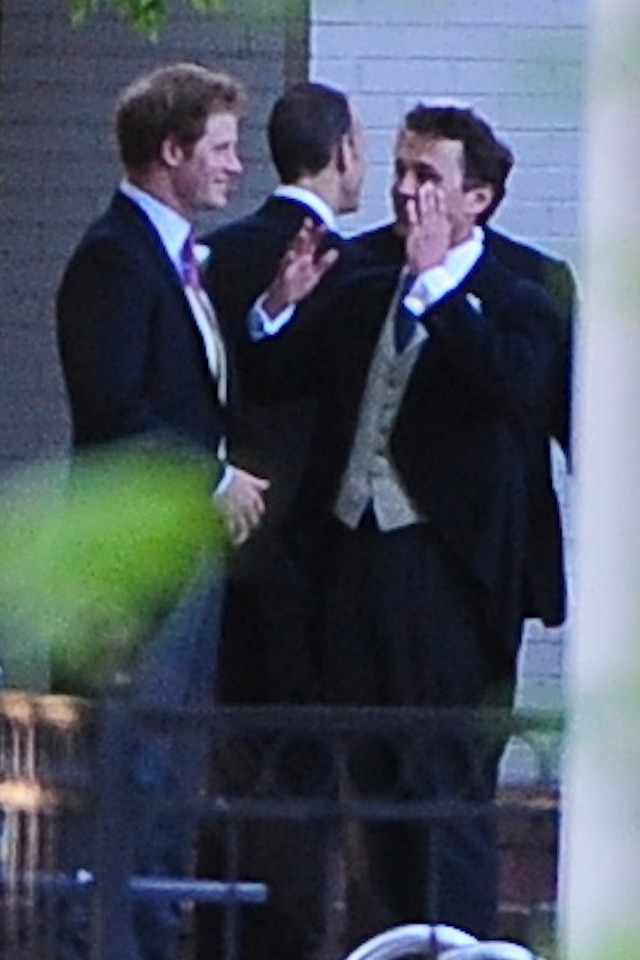 Prince Harry at Guy Pelly's wedding