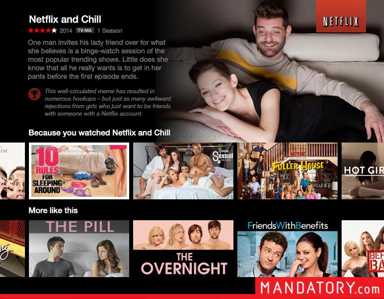 Netflix and Chill Netflix Screen