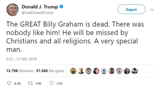 Fallece Billy Graham, predicador evangélico a los 99 años
