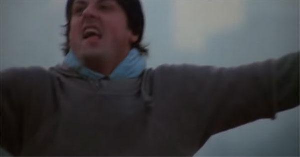 『ロッキー』のあの感動の名シーンから音楽を消してみたらじわじわくる映像ができあがった!【動画】