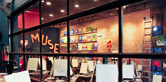 Muse Paintbar painting sessions
