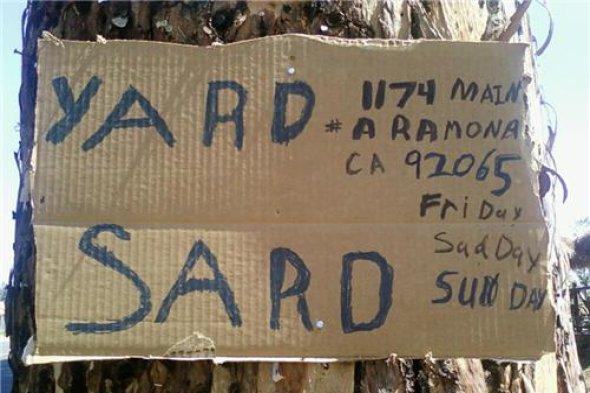 funny yard sale