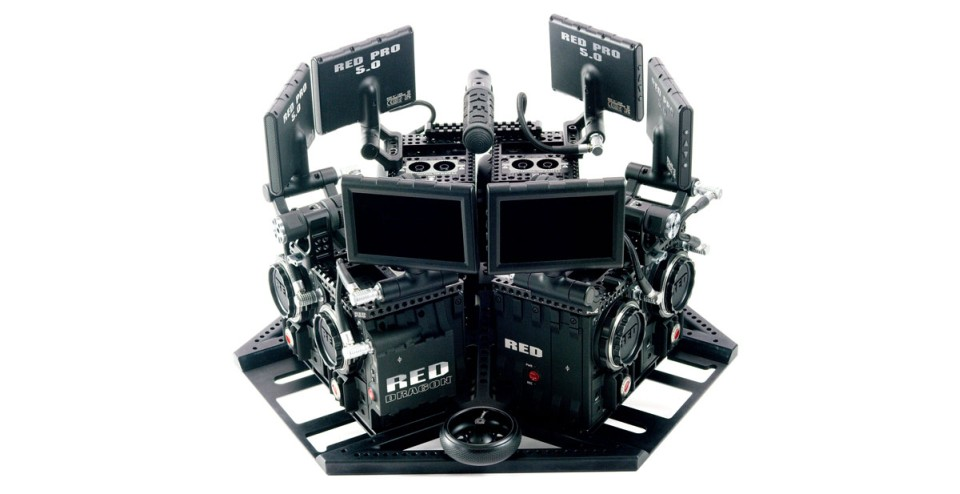 Virtual Reality Camera System Uses 6 Red Dragons To Make