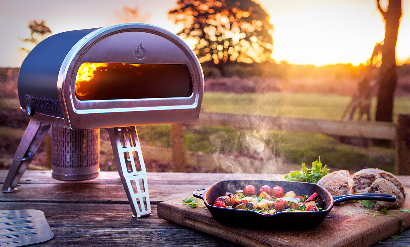 Roccbox portable stone bake oven can cook pizza in minutes