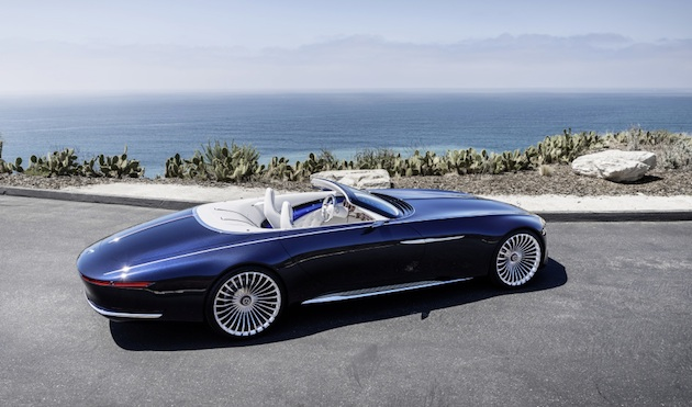 "Luxuriöse Offenbarung - der Zweisitzer Vision Mercedes-Maybach 6 Cabriolet ist eine Hommage an die glorreiche automobile Haute Couture der handgefertigten, exklusiven Cabriolets. A revelation of luxury - the two-seater Vision Mercedes-Maybach 6 Cabriolet pays homage to the glorious ""automotive haute couture"" of hand-finished, exclusive Cabriolets."