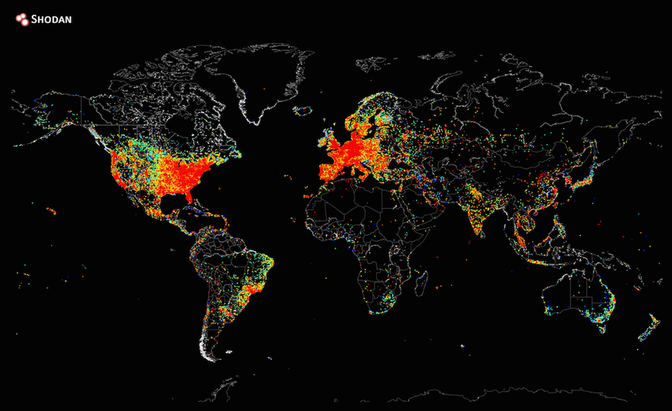A Heat Map Of The Entire Internet