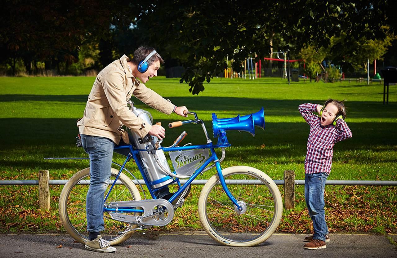 Die lauteste Fahrradhupe der welt