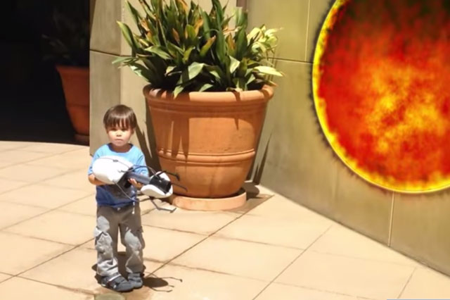 Action movie kid: Dad turns son's adventures into film clip (Video)