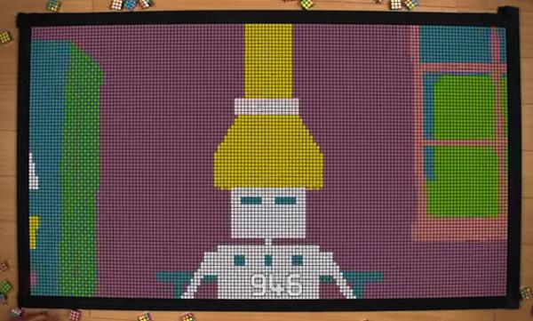 これはスゴい!1300個のルービックキューブで作ったアニメーションが超COOL