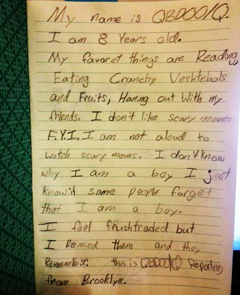 8 year old transgender boy letter