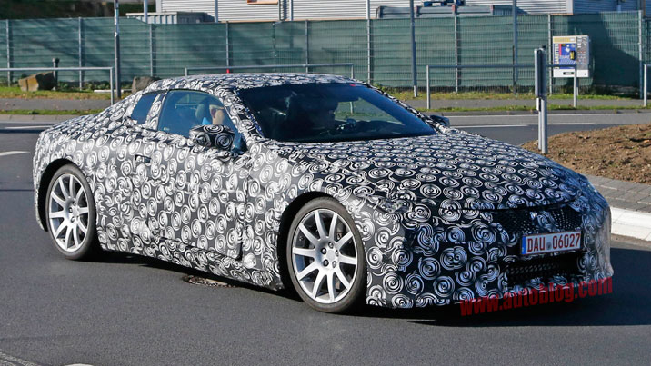 Lexus LC spy shots