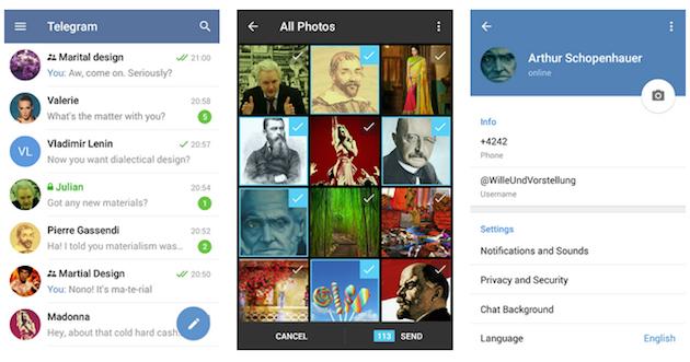 Telegram para Android también se apunta al Material Design (y no se olvida de iOS)