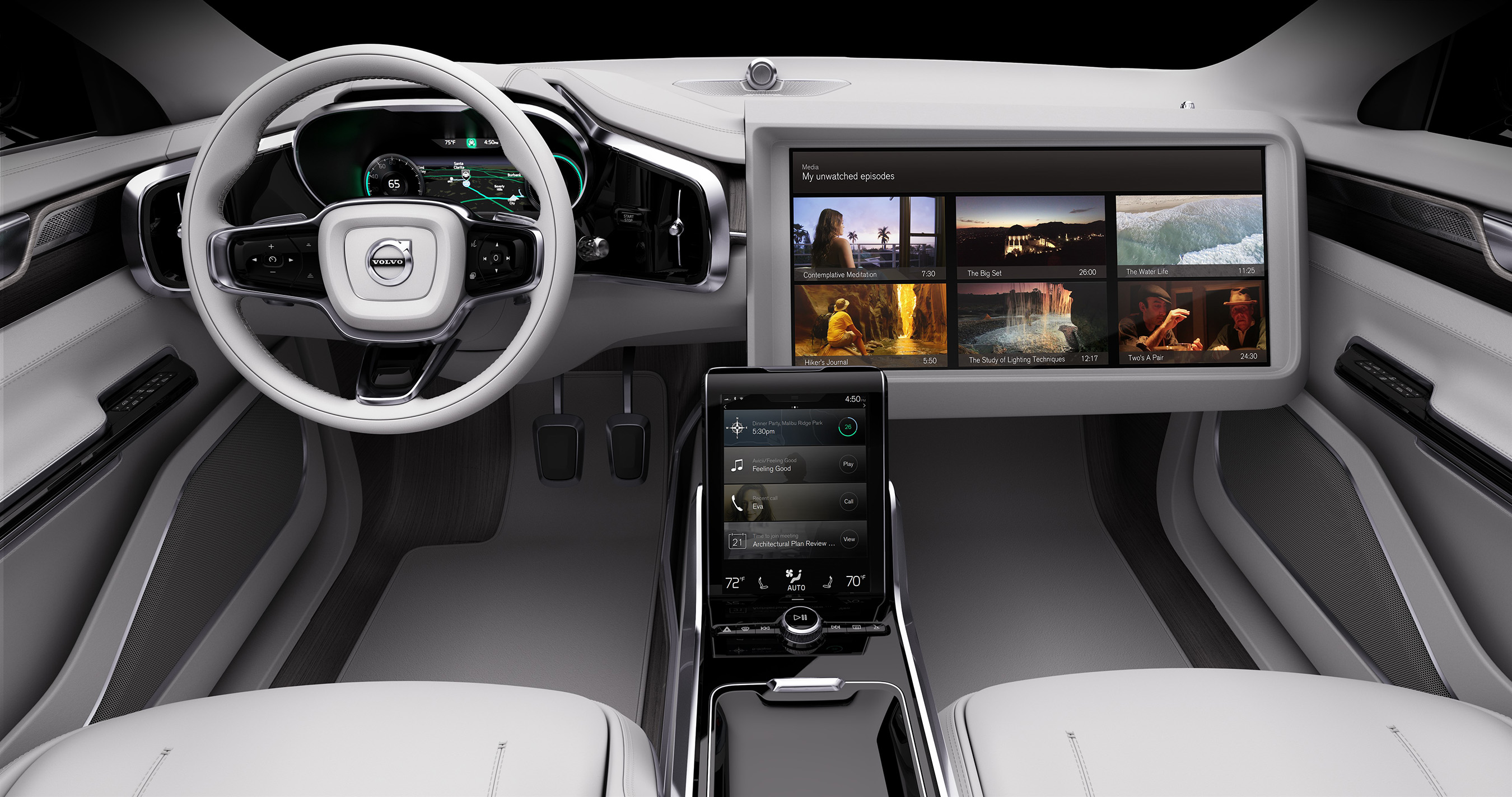 Volvo's making a media streaming system for autonomous cars