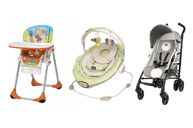 WIN a Chicco stroller, highchair and baby bouncer set!