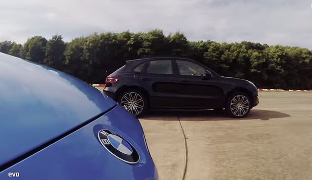 Evo pits the M3 against the Macan Turbo in a drag race