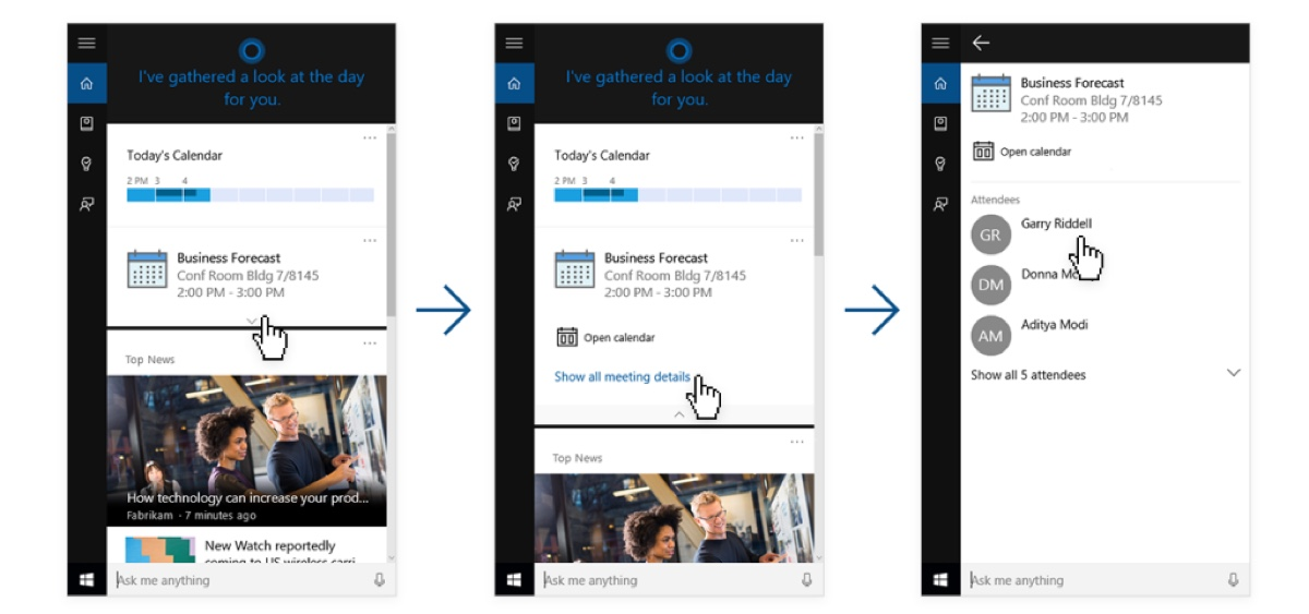 Windows 10's Cortana taps into LinkedIn to cure your meeting anxiety