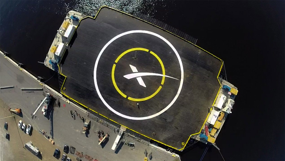 SpaceX is going to land a rocket on a 'spaceport' barge
