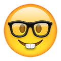 the new nerd face emoji