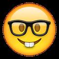 the new nerd face emoji