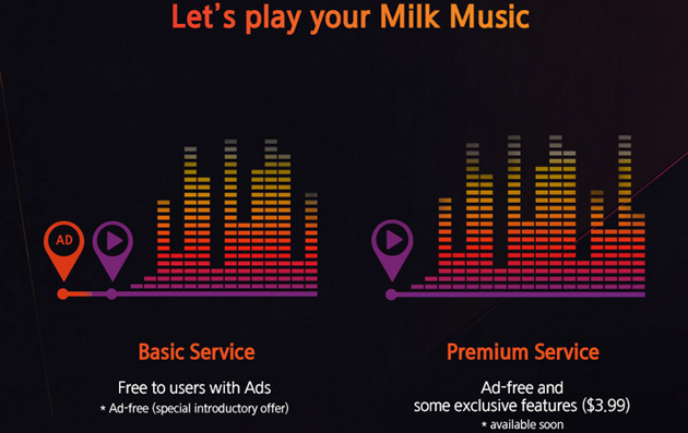 Samsung's Milk Music Premium service revealed