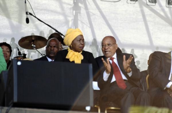 Dr Nkosazana Dlamini-Zuma and President Jacob Zuma during Women's Day celebrations in 2016.