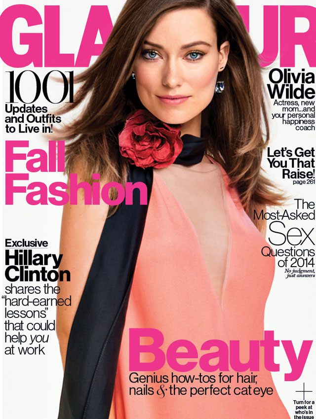 Olivia Wilde breastfeeds in Glamour magazine shoot