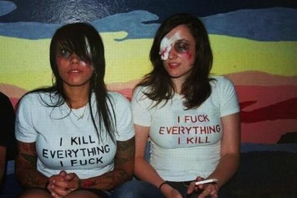 hot girls with a sense of humor, funny girls, hot girls, fuck kill everything girls
