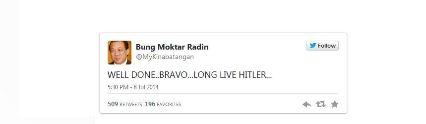 malaysia lawmaker tweet