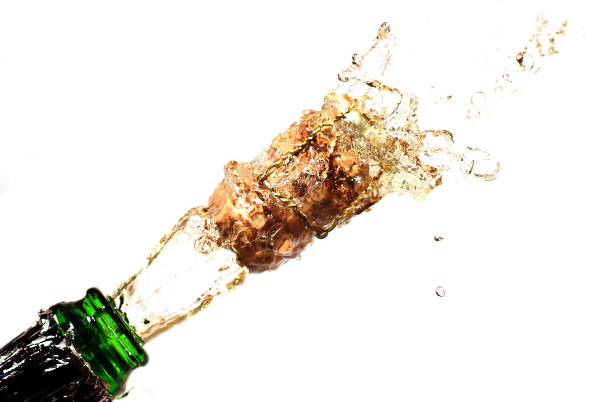 New Year's champagne