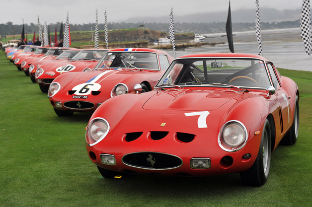 Ferrari 250 GTOs at Pebble Beach in 2011