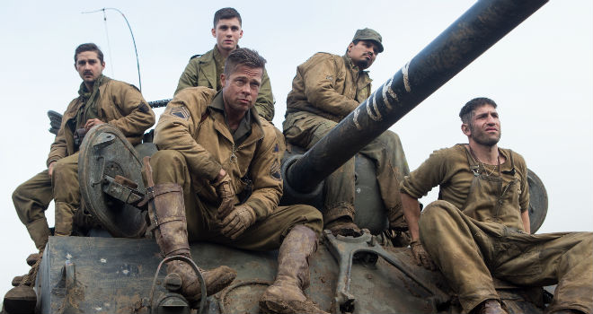 weekend box office brad pitt fury