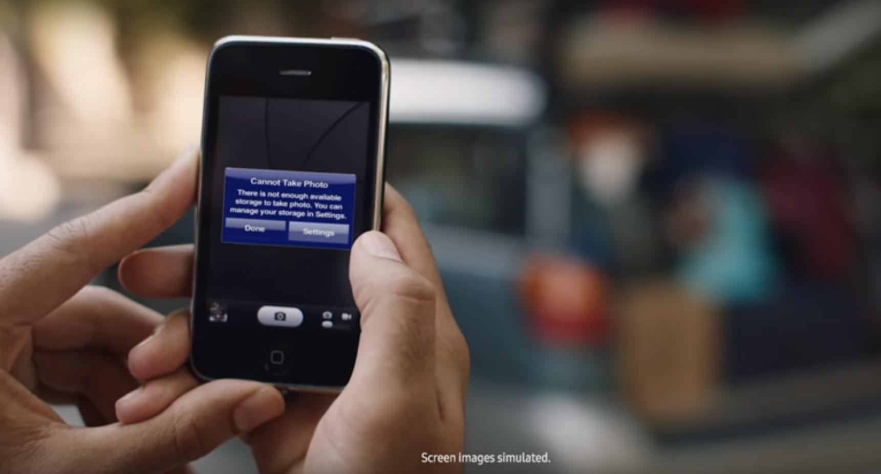 El nuevo anuncio de Samsung se burla del iPhone
