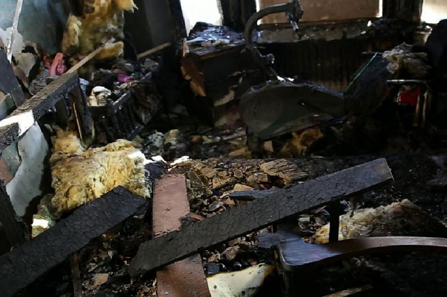 Family escape after exploding e-cigarette destroys home