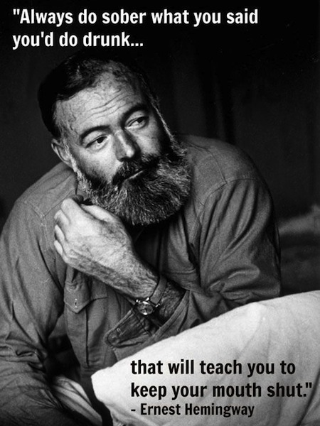 most successful drunks in history, ernest hemingway