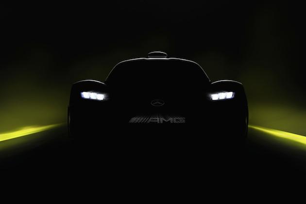 メルセデスAMG、F1用エンジン搭載のハイパーカー「プロジェクト・ワン」をチラ見せ!