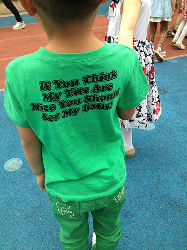English T-Shirts In China