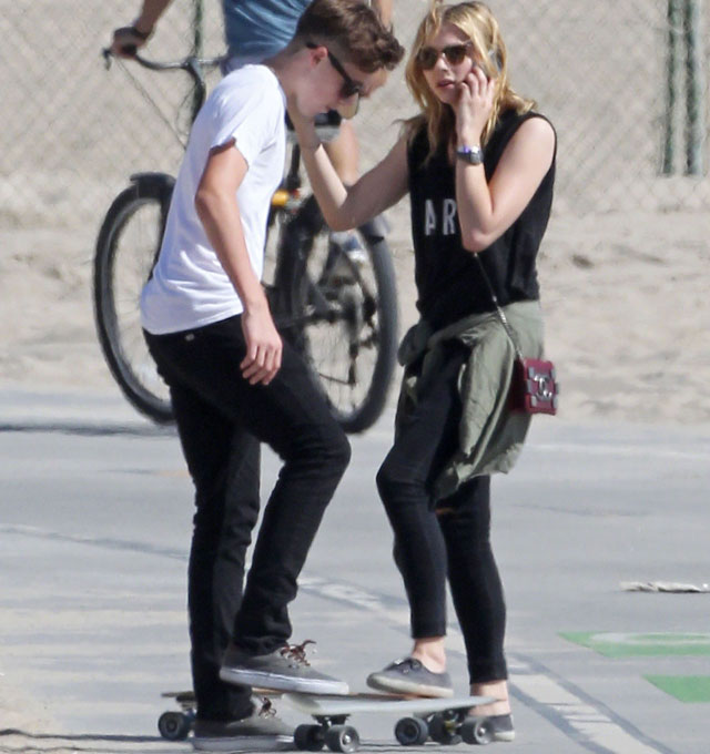 Brooklyn Beckham goes skateboarding with teen actress Chloe Moretz