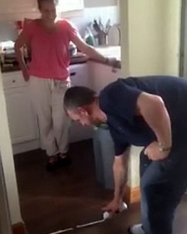 World Cup 2014: Dad sprays white line to stop wife and daughters spoiling his football viewing