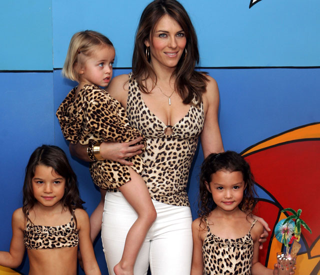Liz Hurley's bikini collection for children