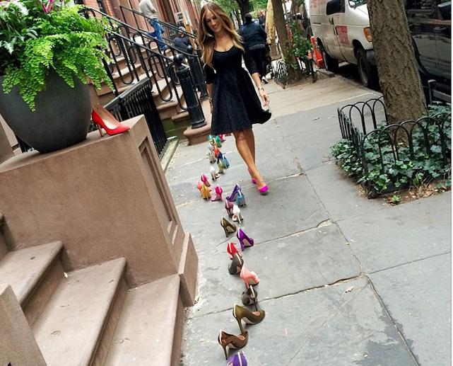 sarah jessica parker shows shoes via instagram