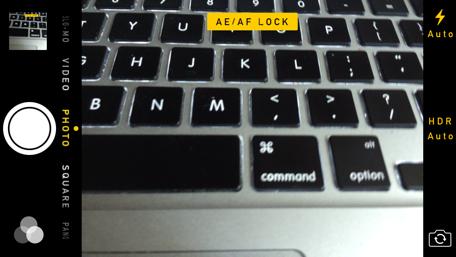 AE/AF Lock iOS Camera