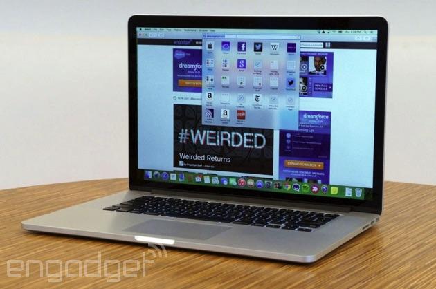 OS X Yosemite on a MacBook Pro