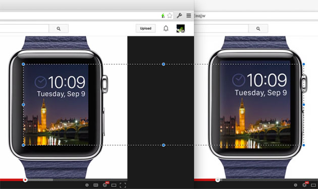 Apple Watch has a smaller screen in tweaked video