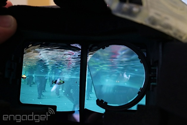 Swim with the fishes using Project Tango and a head-mounted display