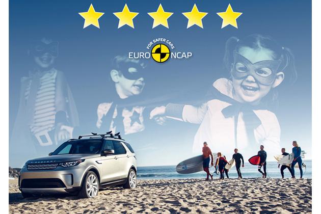 ランドローバーの新型「ディスカバリー」が、 ユーロNCAPの安全評価で最高の5つ星を獲得