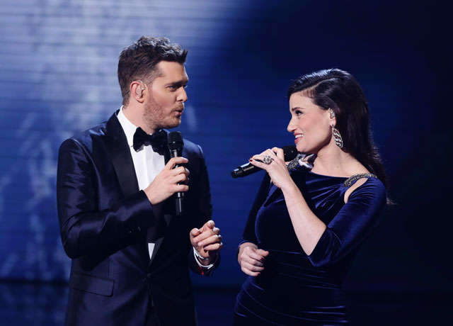 michael buble Idina Menzel