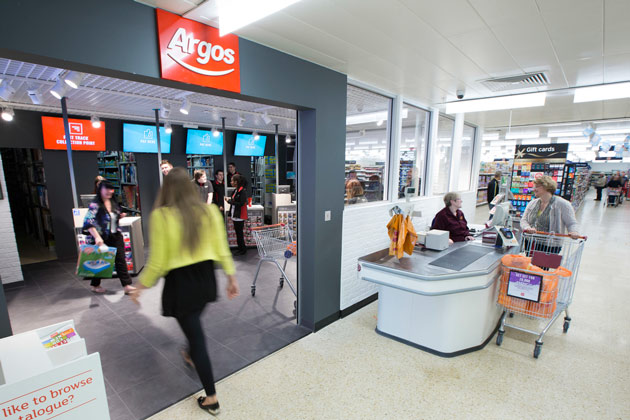 Argos opens its first 'digital stores' inside Sainsbury's supermarkets